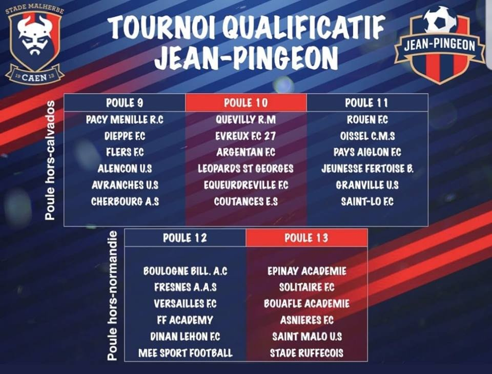 Tournoi qualificatif Jean Pingeon