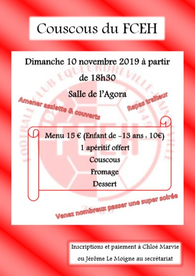 Inscriptions au couscous
